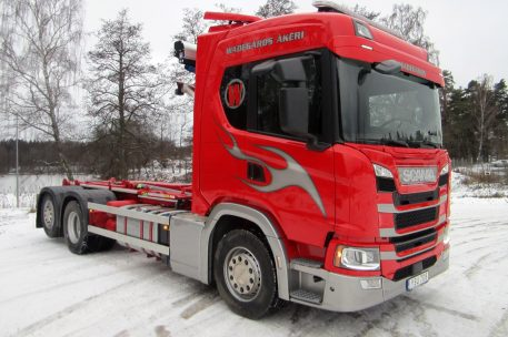 Nyleverans Scania G450 komplettbil av Toveks Lastbilar Skövde