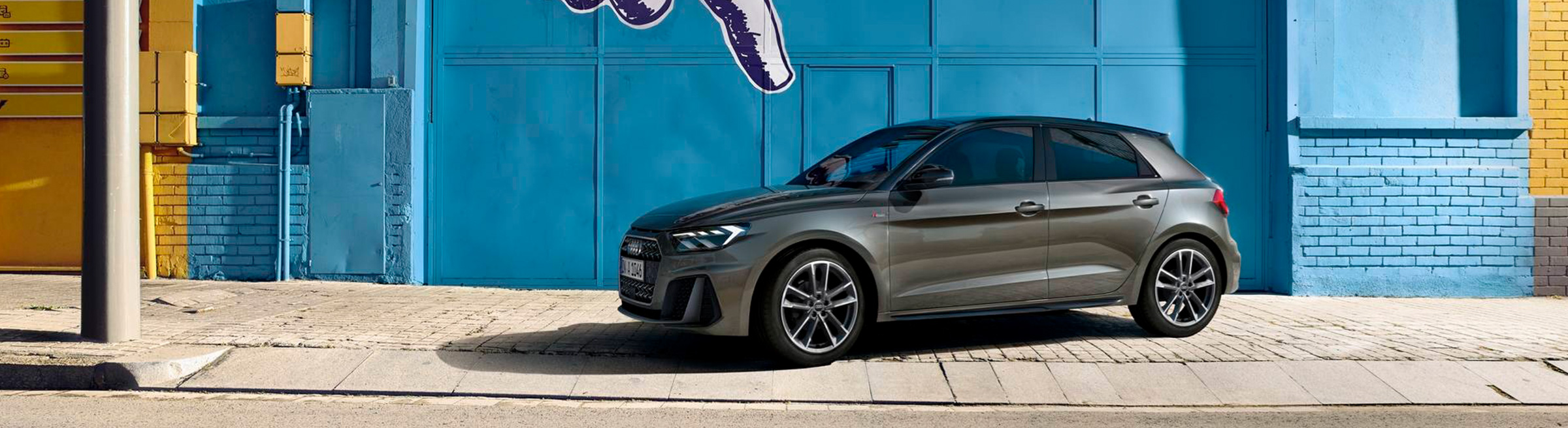 Nya Audi A1 sidan grå