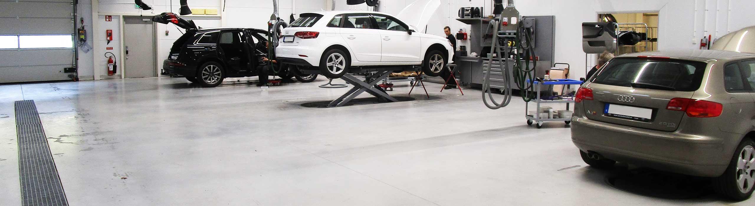Skadeverkstad för Audi, Volkswagen Skoda och Seat