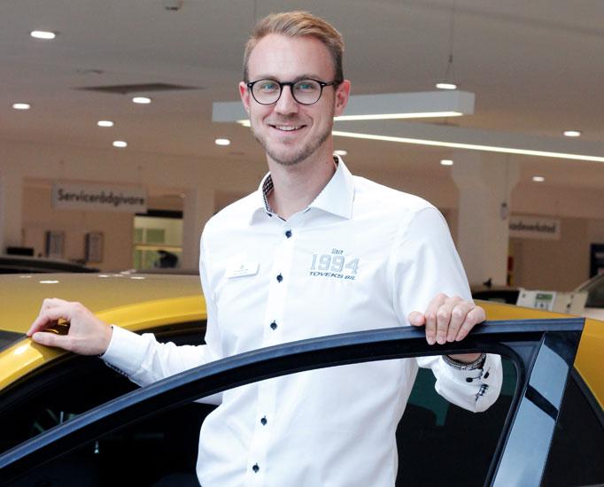 Arbeta som försäljningschef hos Toveks Bil