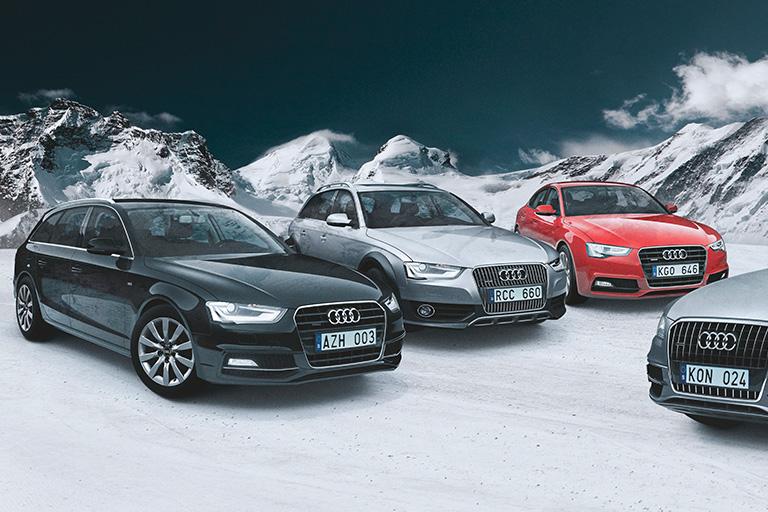 Erbjudande - Fria vinterhjul till nästan nya Audi