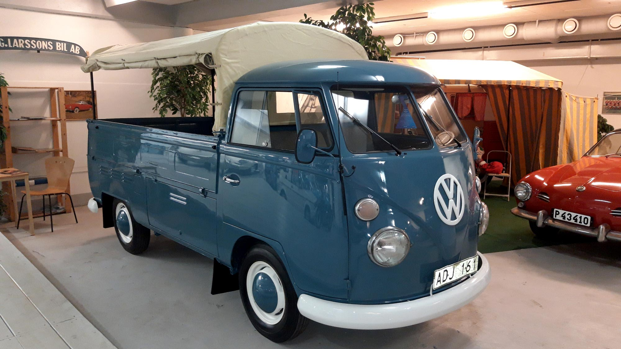 VW Pick-up från 1967 på Toveks Bilmuseum