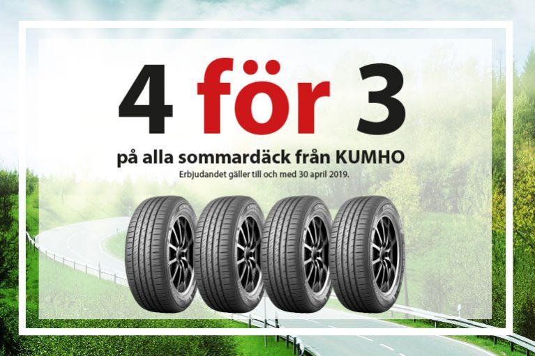 Sommardäck kampanj KUMHO hos Toveks Bil